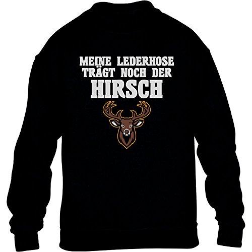 Meine Lederhose Trägt Noch Der Hirsch - Witziges Oktobe Kinder Pullover Sweatshirt Large (Kostüme Kind Country Girl)