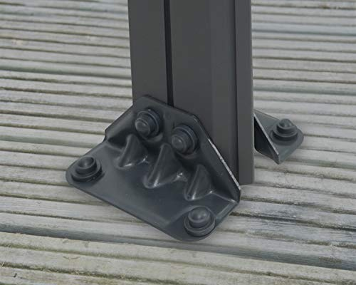 Aluminium Pavillon Überdachung Gazebo Milano 300 308×308 cm // Sommer-Pavillon und Garrtenpavillon mit 6mm Doppelstegplatten - 4