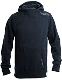 Crosshatch New Mens Pullover Print Hoody Zip Panel Hooded Badge Top Sweat Shirt