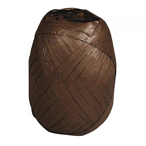 Rayher Hobby RAYHER 52002552 Premium Papierbast, aus 100% Holzfaser, Knäuel 75 m, dunkelbraun