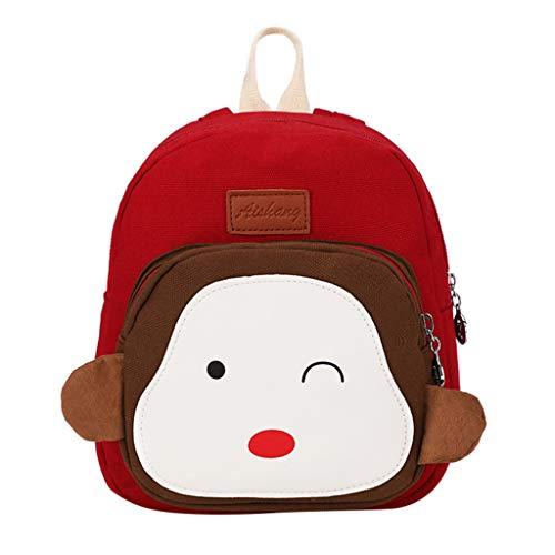 Dorical Mädchentaschen Kinder Cartoon Rucksack Umhängetasche Kindertasche für Mädchen, Schultertasche Baby Bag Kinder Rucksack Leichte Strap Schultasche für Baby Boy Ausverkauf(E)