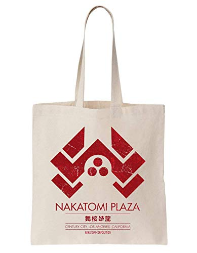 KRISSY Nakatomi Plaza Los Angeles Schultertasche Tote Bag Plaza Creme