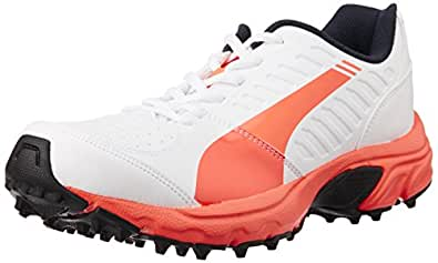 Puma Men's Illuminate Dp Lava Blast-White Cricket Shoes - 9 UK/India (43 EU) (10385802)