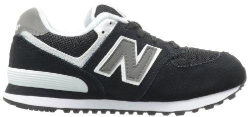 New Balance KL574 Pre Running Shoe (Little Kid),Black,1 W US Little Kid Black/White