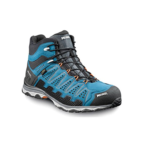 Meindl Scarpe da uomo X-SO 70 Mid GTX Surround, colore: antracite e blu 42 2/3