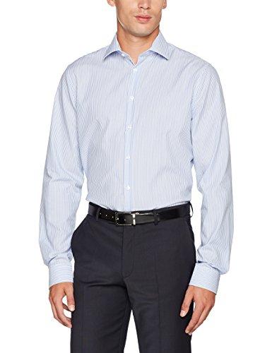 Seidensticker Tailored Extra Langer Arm, Camicia Formale Uomo Blu (Hellblau 12)