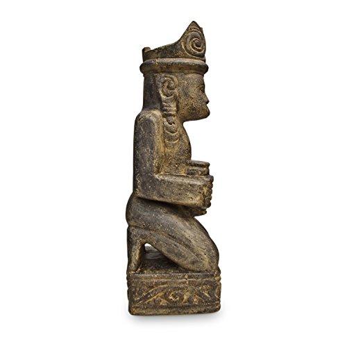 Timor Stammeskunst Steinfigur Figur Skulptur authentisch Tribal Art Lavastein 60cm Nr. 2