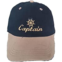DelmarNautical Captains Cap Kapit/äns M/ütze Anker Anchor Kiss the capatain yacht segeln motorboot Boating Sailing