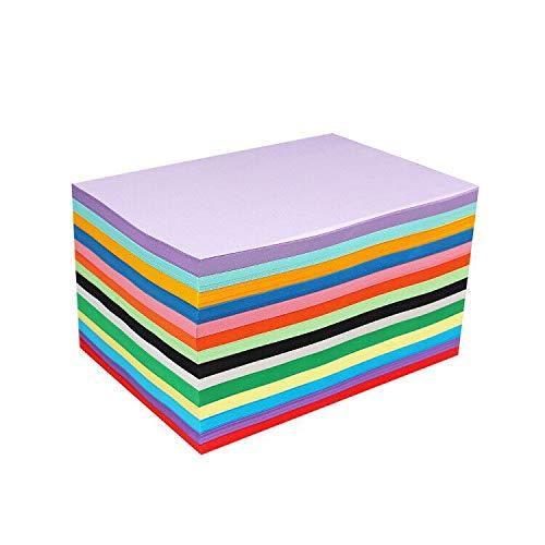 100 Blatt A4 Bunt Papier, 120g/m² Farbigen Kopierpapier Papier, 10 Farben Farbkopierpapier, Bastel-Papier zum DIY, Basteln Papierblumen, Durchzeichnen und Skizzieren