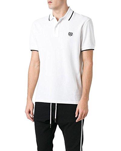 Tiger Baumwolle Polo-shirt (KENZO PARIS - Herren Polo TIGER - weiß, XL)