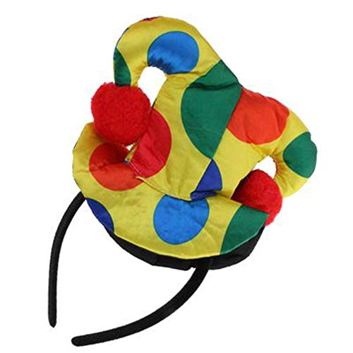 AchidistviQ Polka Dot Clown Hut Stirnband Haarband Zirkus Narr Kostüm Kostüm Prop 4#