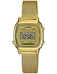 Casio Femmes Digital Quartz Montre avec Bracelet en Acier Inoxydable Massif LA670WEMY-9EF
