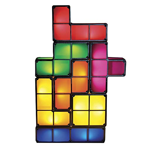 Goods & Gadgets Lámpara apilable LED, diseño Tetris, lámpara de Mesa, luz de Ambiente, Retro, lámpara de Ladrillos Tetris