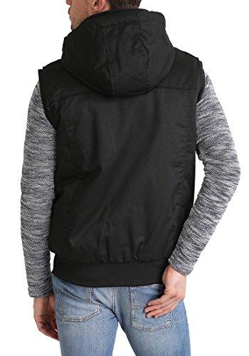 REDEFINED REBEL Mario Herren Weste Waistcoast Kapuzenweste aus hochwertiger Materialqualität Black