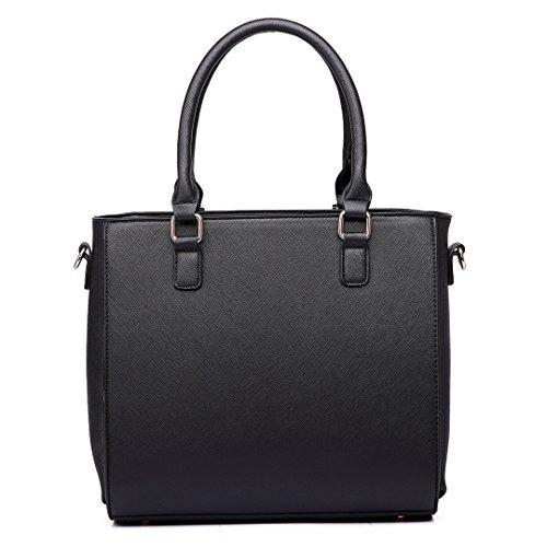 Miss Lulu , Cabas pour femme 1654 Black/Grey