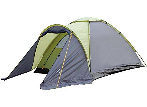EXPLORER Zelt Langeland 3 Kuppelzelt mit Vordach 205/305x180x120cm 3 Personen 2000mm Wassersäule Outdoor Wandern Familie Camping