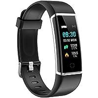 moreFit Fitness Tracker Orologio Fitness Bracciali Contapassi Pedometro Calorie Impermeabile IP67 Activity Tracker Sport Smart Watch per Uomo Donna Bambino Nero