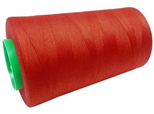 Red Baumwolle Nähmaschine Verschönerung Gewinde Filamentspule 5000 Yards (Indien Nähmaschine)