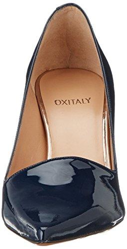 Oxitaly - Stefy 02, Scarpe col tacco Donna blu (marine)