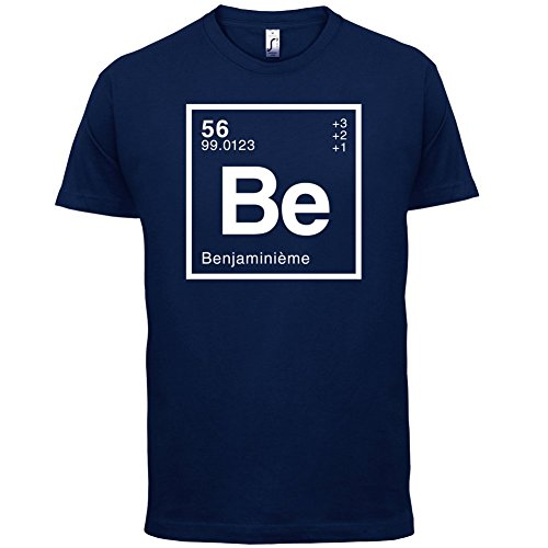 Benjamin - Élément Périodique - Homme T-Shirt - Bleu Marine - XS