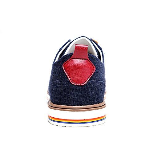 vilocy hommes ultra léger de basses en lin formateurs Chaussures Bleu - bleu