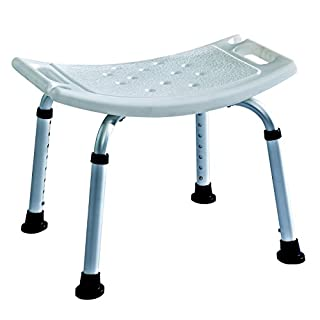 Lightweight Aluminium Shower Stool / Bath seat Bench - adjustable height ECSS03