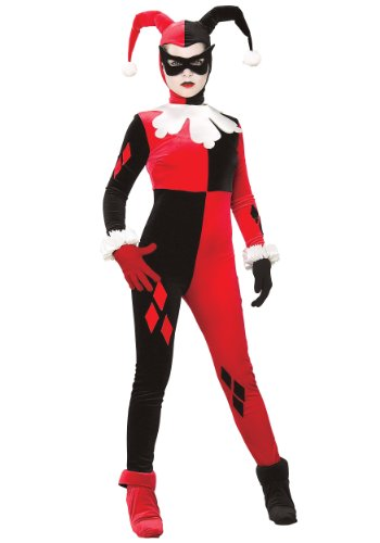 BATMAN ~ Harley Quinn - Adult Costume Lady : (Kostüme Spandex Batman)