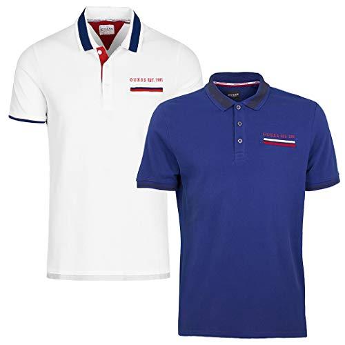 Guess Jeffrey T-Shirts & Poloshirts Herren Weiss - L - Polohemden