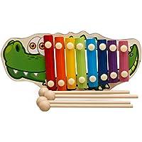 Xilófono Juguete, 8 Notas Xilófono, Xilofono para Niños, Xilófono Juguete de Madera de Instrumento Musical, Incluye 4 Palillo