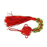 AYRSJCL Chinese Feng Shui 6 Coins Hanger for Prosperity Wealth Success and Good Fortune