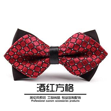 lpkone-Chambre double De luxe messieurs bow robe de mariage liens hommes garçons mariés robe de mariage Red 3