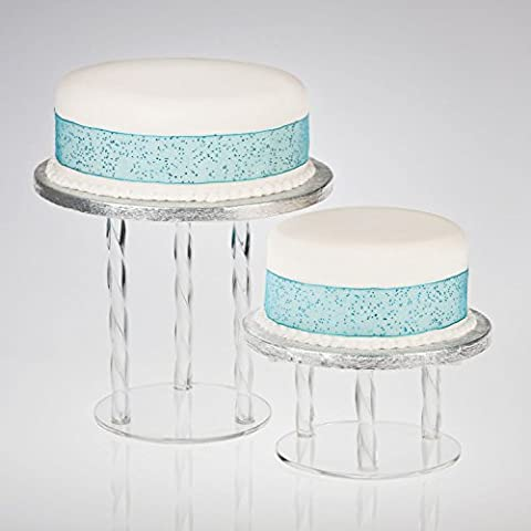 Acrylic Twist Cake Separator Pillars - Round/Square Plates - 130mm