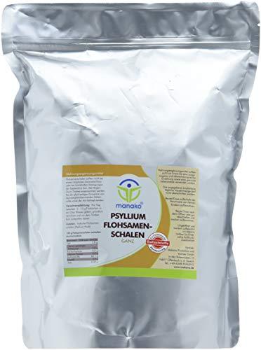 manako prebiotic Psyllium Flohsamenschalen ganz, 1000 g Beutel (1 x 1 kg)