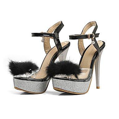 LvYuan Da donna-Sandali-Ufficio e lavoro Formale Serata e festa-Club Shoes-A stiletto-PU (Poliuretano)-Nero Rosso Bianco Black