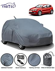 Fabtec Car Body Cover for Volkswagen Polo with Mirror Pocket Antenna & Storage Bag (Heavy Duty)