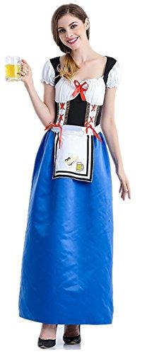 WLITTLE Damen Kostüm Oktoberfest bayerische Bier Partei Damen Kostüm Deutsch traditionellen Outfit Karnevalskostüm Abendkleid -Halloween Cosplay ()