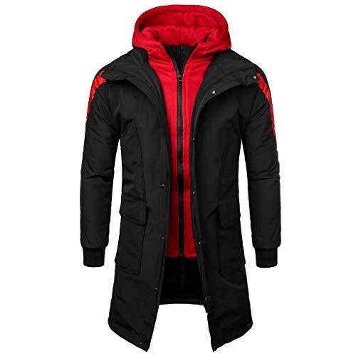 FaTsot Herren Parka Winterjacke Winterparka Herren Daunenjacke Winterjacke Hooded Puffer Jacket, Steppjacke Lange Winterjacke gefüttert mit...
