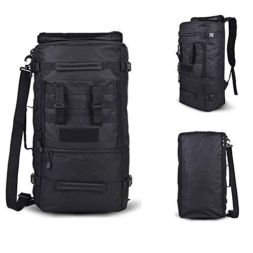 yinggg Leinwand Rucksack Herren Casual Daypacks Travel Tasche für Wandern/Camping/Outdoor Schwarz