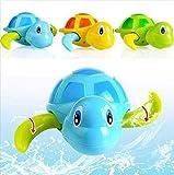 YAOGZ 3Pcs Bagno Cute Cartoon tartaruga giocattolo dell'acqua Classic Piscina idromassaggio vasca da bagno all'aperto Carino tartaruga nuotare giocattoli for i bambini.Clockwork Kid educativi giocatto