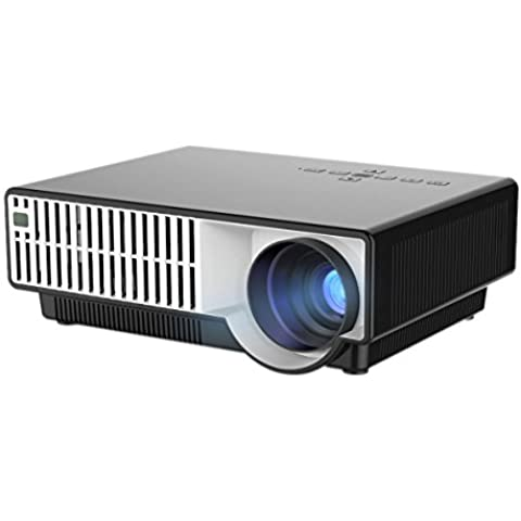 YISCOR carcasa en blanco LED proyector multimedia HD 1080p 2500lumens 800 * 600 lcd hdmi usb para cine en casa cine Movie Game efecto