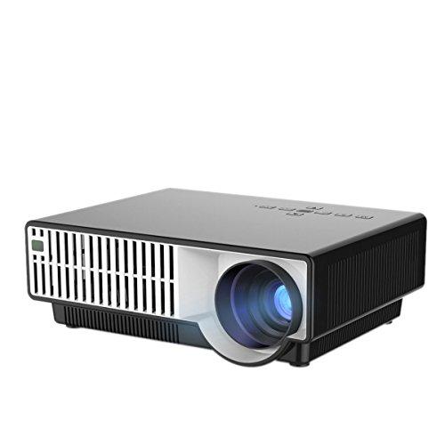 yiscor LED Projektor Multimedia weiß und schwarz Gehäuse HD 1080P 1280* 8002800lumens LCD HDMI USB für Home Theater Kino Movie Game - Led-projektor-1080p-epson