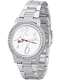 Gen-y Analog Silver White Watch For Girls And Women -GY-024