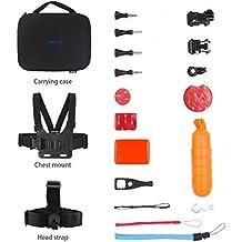 EKEN Action Camera Accessories Kit Estuche para cámaras de acción EKEN H9 / H9R / H8R / H8 y cámara de acción AKASO EK5000 EK7000 4K WIFI Gopro Hero 5 / Sesión 5 / Hero 4/3 + / 3/2/1 Deportes DV (Deportes acuáticos) …