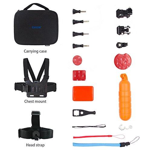Galleria fotografica EKEN Action Camera Kit di accessori Valigetta for EKEN H9s H9R W9s V8s Action Cameras and AKASO EK5000 EK7000 4K WIFI Action Camera Gopro Hero 5 Session 5 Hero 4 3+ 3 2 1 Sports DV (Water Sports)