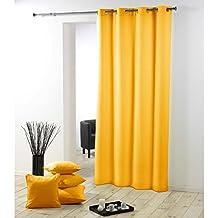 rideaux jaunes. Black Bedroom Furniture Sets. Home Design Ideas