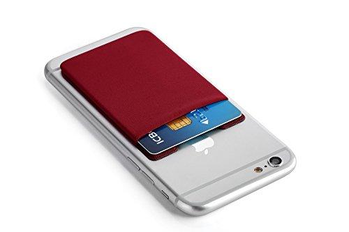 Cerbery® | Smartphone Kartenhalter | Auto Case Etui Fingerhalter Fitness Folie Halter Halterung Handy Hülle Kartenhülle Kopfhörer Sport | Apple iPhone 7 8 X Samsung Galaxy S8 (Violett) Braun