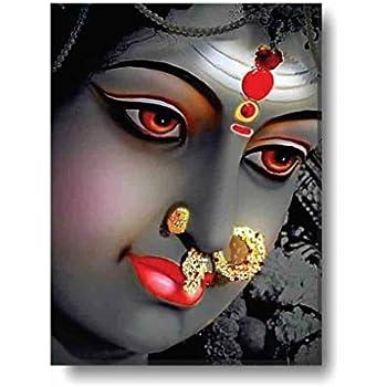 Yaya Cafe Loving Durga Maa Idol Modern Art Wall Painting For