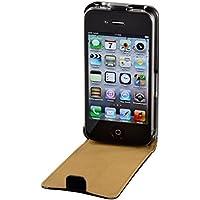 Hama Handytasche Flip Case (Schutzhülle, Magnetverschluss, geeignet für Apple iPhone 4/4s) schwarz