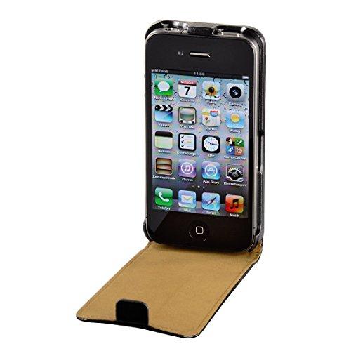Preisvergleich Produktbild Hama Handytasche Flip Case (Schutzhülle, Magnetverschluss, geeignet für Apple iPhone 4/4s) schwarz