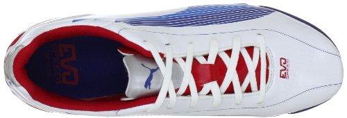 Puma evoSPEED 5 TT 102588 Herren Sportschuhe - Fußball Weiss (white-limoges-ribbon red 01)